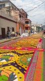 Célébration religieuse Tegucigalpa Honduras d'été de préparation de tapis colorée par sciure 2019 4 photographie stock libre de droits
