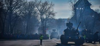 Célébration roumaine 2016 de jour national Image stock
