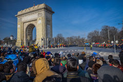 Célébration roumaine 2016 de jour national photographie stock libre de droits