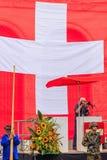 Célébration suisse de jour national à Zurich, Suisse Photographie stock