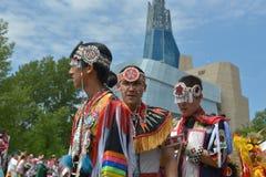 Célébration vivante de jour indigène dans Winnipeg Image stock