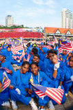 Célébrations 2011 de Jour de la Déclaration d'Indépendance de la Malaisie cinquante-quatrième Image libre de droits