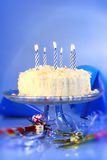 Célébrations bleues d'anniversaire Images libres de droits