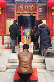 Célébrations d'an neuf et prières chinoises (an du porc). Image libre de droits