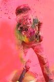 Célébrations de Holi en Inde. Image stock