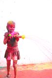 Célébrations de Holi en Inde. Photo stock