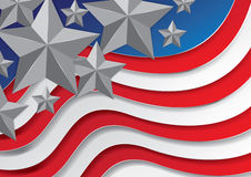 Célébrations de Jour de la Déclaration d'Indépendance Image libre de droits