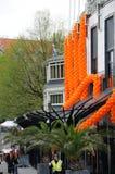 Célébrations de Queensday à Amsterdam images stock