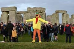Célébrations de solstice d'hiver chez Stonehenge photo stock