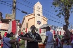 Célébrations du jour de St George en Rio de Janeiro Image stock