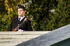 Célébrations en l'honneur de l'anniversaire de la libération des envahisseurs nazis dans le mémorial dans le village d'Ilinskoe d photos libres de droits