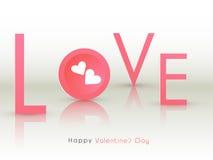 Célébrations heureuses de Saint-Valentin avec amour des textes Images stock