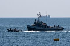 Célébrations roumaines de marine Images libres de droits