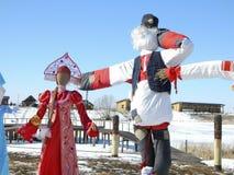 Célébrations russes en mars Images stock