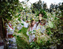 Célébrations slaves traditionnelles d'Ivana Kupala Image libre de droits