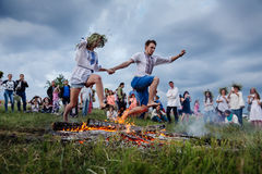 Célébrations slaves traditionnelles d'Ivana Kupala Photo stock