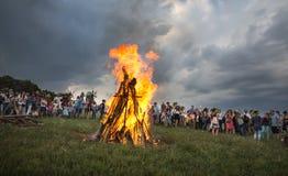 Célébrations slaves traditionnelles d'Ivana Kupala photos libres de droits