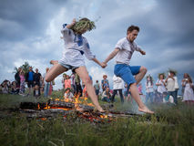 Célébrations slaves traditionnelles d'Ivana Kupala Photo libre de droits