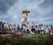 Célébrations slaves traditionnelles d'Ivana Kupala Photographie stock