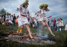 Célébrations slaves traditionnelles d'Ivana Kupala Images libres de droits