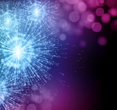Célébrez feux d'artifice de cierge magique de partie les petits Vecteur illustration libre de droits