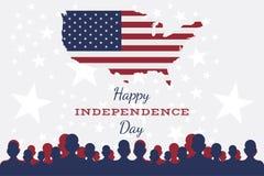 Célébrez heureux le 4ème juillet - Jour de la Déclaration d'Indépendance illustration de vecteur