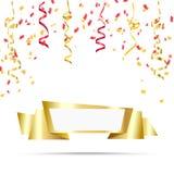 Célébrez la conception de fête de fête de vacances avec des confettis, fond de ruban illustration stock