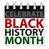 Célébrez le graphisme noir de mois d'histoire Image stock