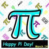 Célébrez le jour de pi Jour heureux de pi - vecteur