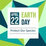 Célébrez le jour de terre - vecteur illustration libre de droits