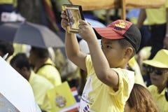 Célébrez le père jour @ le _Thailand du 5 décembre 2012 Photographie stock libre de droits