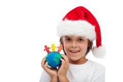 Célébrez Noël autour du concept du monde Photos stock