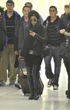 Célébrité Kim Kardashian à l'aéroport de LAX Photographie stock libre de droits