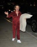 Célébrité Richard Simmons à l'aéroport de LAX Image libre de droits