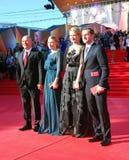 Célébrités au festival de film de Moscou Photos stock