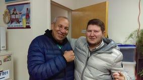 Célébrités : Auteur et entraîneur de boxe Image libre de droits
