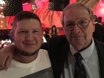Célébrités : Auteur Michael Salita And Hall de publiciste de boxe de renommée Bill Caplan Images libres de droits