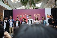 Célébrités de Singapour Mediacorp Images stock