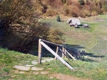 Céltico Archeoskanzen em Havranok, Eslováquia imagem de stock royalty free