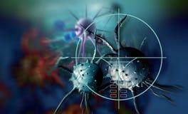 Célula cancerosa ilustración del vector