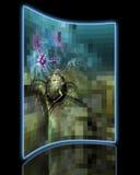 Célula cancerosa pixelated Imagens de Stock