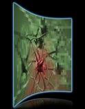 Célula cancerosa pixelated Fotografia de Stock