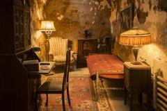 Célula de Al Capone dentro de la cárcel del estado philadelphia imagen de archivo