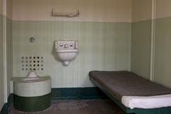 Célula de cárcel estándar de Alcatraz Fotografía de archivo libre de regalías