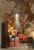 Célula de Capone del Al en la penitenciaría del este del estado fotografía de archivo