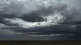 Célula de la tormenta sobre prado