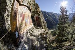 Célula de un santo en Transilvania Arsenie Boca Foto de archivo libre de regalías