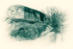 Célula del monje del monasterio de Turnu Imagen de archivo