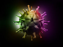 Célula del VIH Imagen de archivo libre de regalías