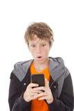 Célula o teléfono móvil dada una sacudida eléctrica Imagen de archivo libre de regalías